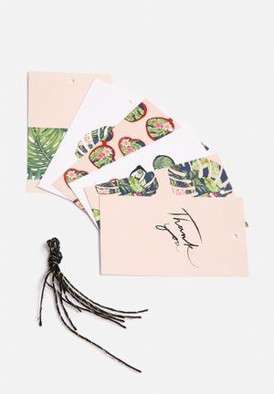 Sammy Sheppard Palm Vision Gift Tag Set Gifting & Stationery