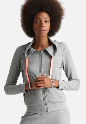 ONLY Play Grace Zip Sweat Hoodies & Jackets Grey