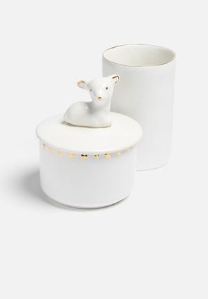 Urchin Art Canister Set Bath Accessories Ceramic