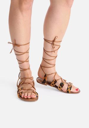 Lilly's Closet Emily Sandals & Flip Flops Leopard Print