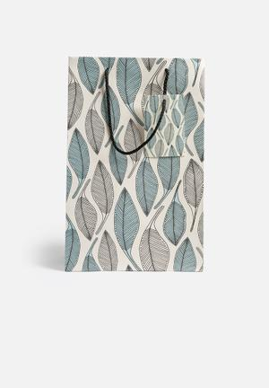 A Love Supreme Blue Leaves Gift Bag Gifting & Stationery