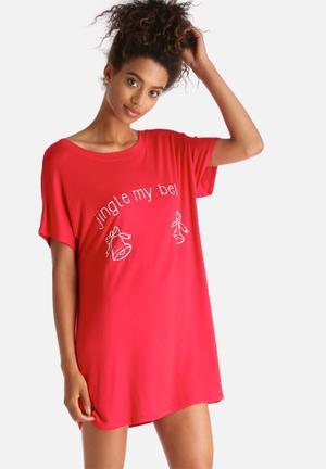 Adolescent Clothing Jingle Bells Sleepwear 95% Viscose 5% Elastane