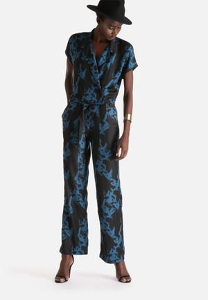 Selected Femme Macy Jumpsuit Black & Blue