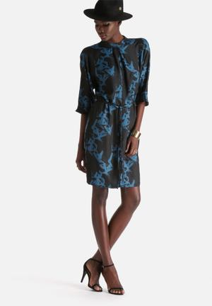 Selected Femme Macy Dress Formal Black & Blue
