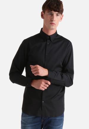 Selected Homme Travis Slim Shirt All Black