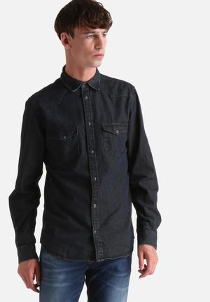 Selected Homme Movie Slim Shirt All Black