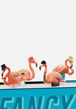 Mustard  Bookmarks Fancy Flamingos Gifting & Stationery Plastic & Magnet