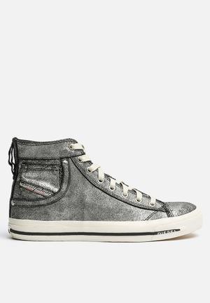 Diesel  Magnete Exposure I Sneakers Dark Silver