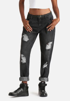 Pieces Kate Boyfriend Jeans Black