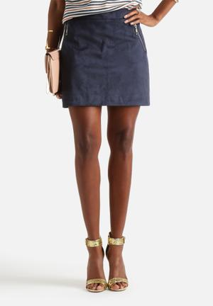 Glamorous A Line Zip Skirt Navy