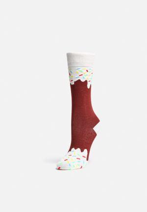 DOIY Icepop Socks Gifting & Stationery Brown