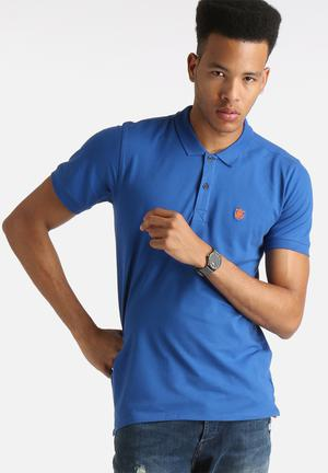 Selected Homme Embroidery Polo Shirt T-Shirts & Vests Monaco Blue