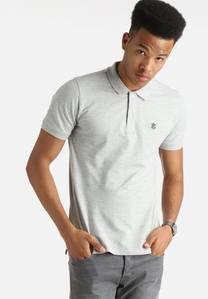 Selected Homme Embroidery Polo Shirt T-Shirts & Vests Light Grey Melange