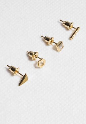 Orelia Minimalist Multi Stud Pack Jewellery Gold
