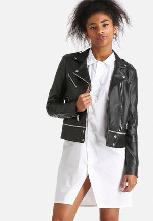 Y.A.S Wong Leather Jacket Black