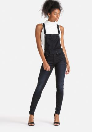 G-Star RAW 3301 Dungaree Jeans Dark Blue