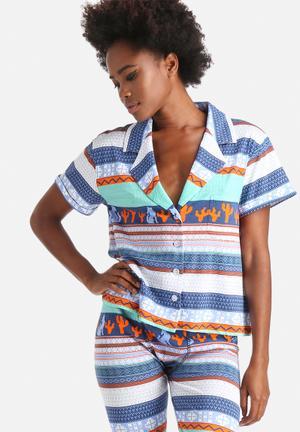 MINKPINK Dreamstate Top Sleepwear Multi Colour