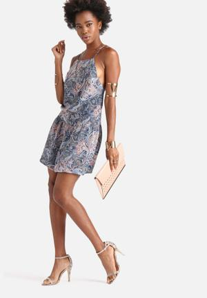 Dailyfriday One Way Dress Casual Multi Coloured Paisley