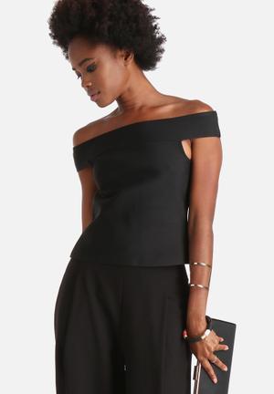 Vero Moda Sandy Fancy Off-Shoulder Top Blouses Black