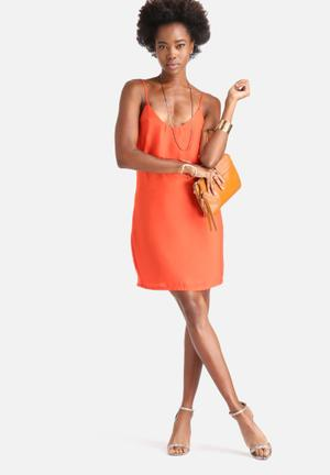 Dailyfriday Moss Slip On Dress Casual Orange Red