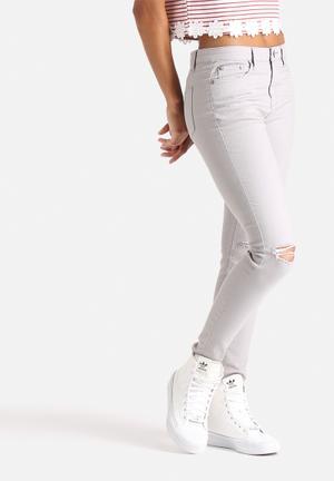 Glamorous Ripped Knee Jean Grey