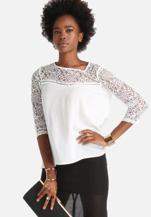 Dailyfriday Willow Smock Top Blouses White
