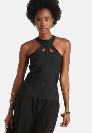 Vero Moda Jessie Fancy Cut-Out Top Blouses Black