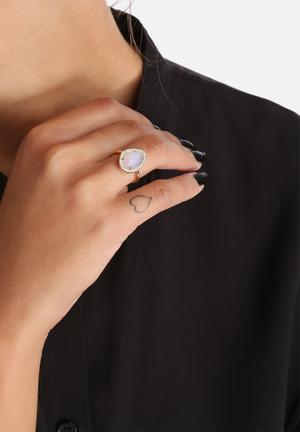 Orelia Boutique Crystal Ring Jewellery Gold
