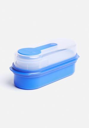 Kitchen Craft Multi-Layer Rectangular Lunch & Snack Boxes Kitchen Accessories Blue