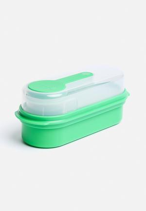 Kitchen Craft Multi-Layer Rectangular Lunch & Snack Boxes Kitchen Accessories Green