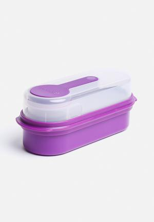 Kitchen Craft Multi-Layer Rectangular Lunch & Snack Boxes Kitchen Accessories Purple