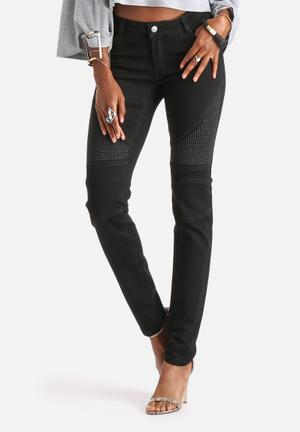 Noisy May Eve Slim Biker Jeans Black