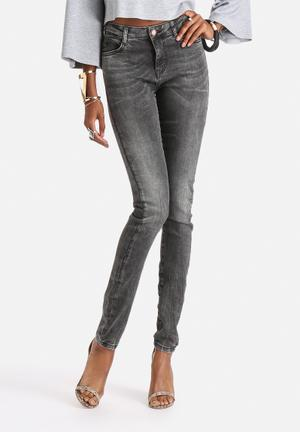 Noisy May Lucy Super Slim Jeans Grey