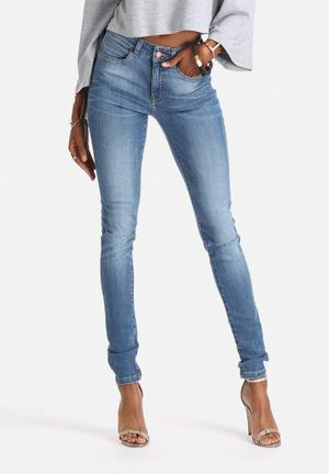 Noisy May Lucy Super Slim Kneecut Jeans Medium Blue