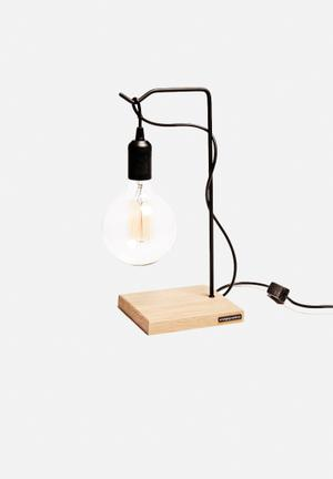 Emerging Creatives Jenny Table Lamp Lighting Oak Wood & Steel