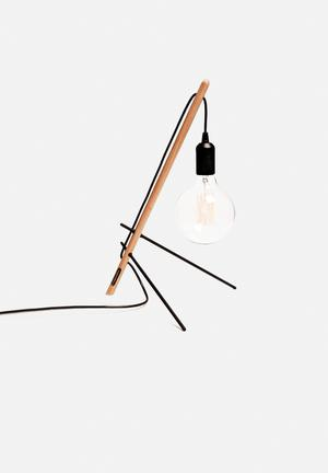 Emerging Creatives Vera Table Lamp Lighting Wood & Steel