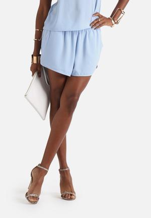 Neon Rose Runner Shorts Blue
