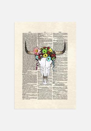 Matt Dinniman  Cowskull Flowers Art