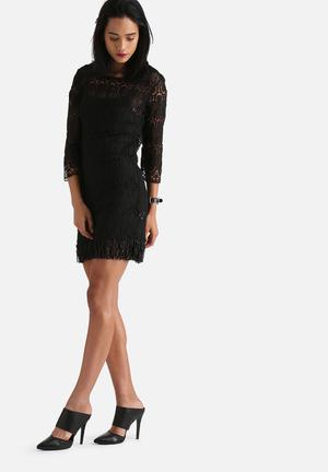 Goldie Tenessee Lace Dress With Fringe Occasion Black