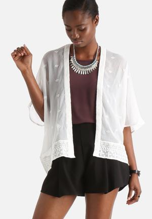 Vero Moda Santorini 3/4 Kimono Jackets White