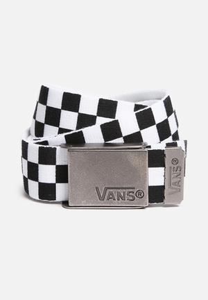 Vans Deppster Belt Black And White