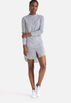 Selected Femme Livi Striped Shirt Navy & White
