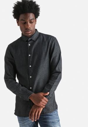 Jack & Jones Originals Hop Slim Shirt  Dark Blue
