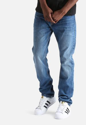 Bellfield Phoenix Slim Fit Jeans Blue Vintage