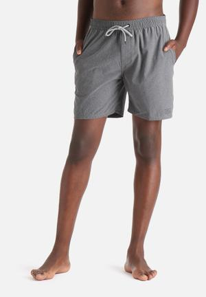 Globe Lygon Poolshort Swimwear Charcoal
