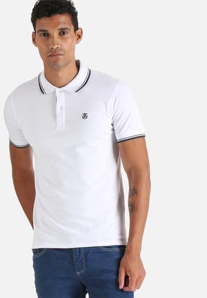 Selected Homme Season Polo T-Shirts & Vests White