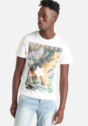 Jack & Jones Originals Dame Tee T-Shirts & Vests Cloud Dancer