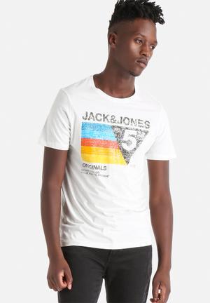 Jack & Jones Originals Cole Tee T-Shirts & Vests Cloud Dancer