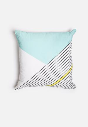 Sixth Floor Angles Printed Cushion Cotton Twill