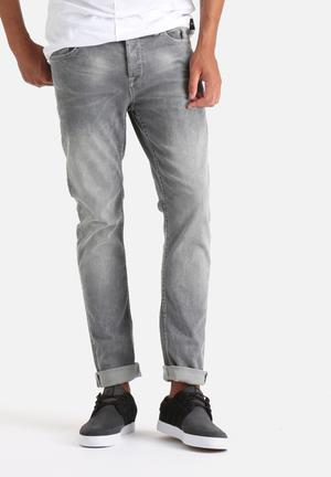 Only & Sons Loom Slim Denim Jeans Grey